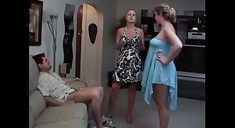 Wife sharon shows girlfriend cuck husbands chastity cage