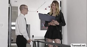 Tgirl Casey destroys Chad juicy ass - Transsual.net