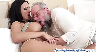 Bigtits euro sucks and fucks seniors cock