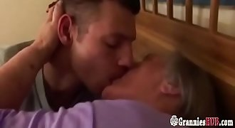 Old Curvy Granny With Huge Boobs Still Loves Sex